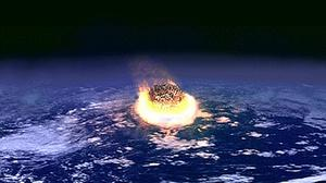 Artist impression of a meteor impacting Earth, as research points to Lairg in northern Scotland as the location of a vast crater