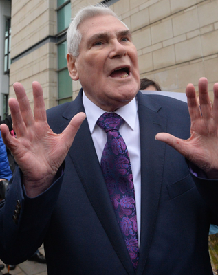 Pastor James McConnell outside the courthouse