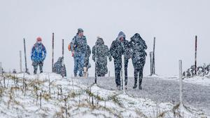 Walkers brave the elements