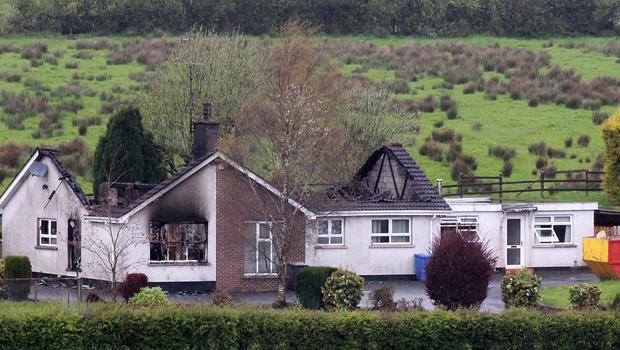 The house on Parkanaur Road outside Dungannon