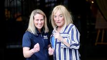 Boxer Cathy McAleer with her new manager Kellie Maloney