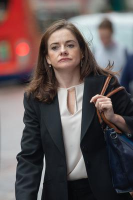 Dr Roisin Hamilton leaving her tribunal hearing at the GMC in Manchester