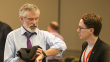 Sinn Fein president Gerry Adams at the party's away day conference at City North Hotel, Co Meath