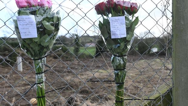 Flowers laid at the scene
