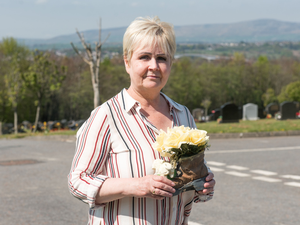 Lorna Wray was one of the first to visit Ballyoan Cemetery in the Derry City and Strabane District Council area
