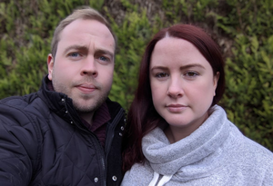 Altered plans: Sarah Louise Murray from Lisburn and her partner Matthew Short
