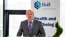 """Northern Ireland's Chief Medical Officer Dr Michael McBride told MLAs that health officials are determined to stop Covid-19, the name of this strain of coronavirus, """"in its tracks"""" (Liam McBurney/PA)"""