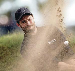 Acting star Jamie Dornan  playing from the bunker