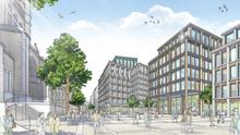 An artist's impression of how the proposed £500m Tribeca development in Belfast might look when finished