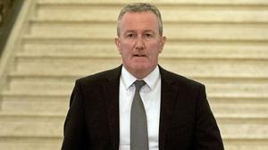 Stormont departments could have run out of cash before the end of July due to the cost of battling the pandemic, finance minister Conor Murphy said (Liam McBurney/PA)