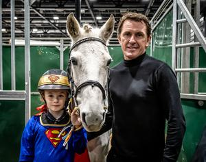 Tony McCoy with daughter Eve