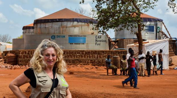 Fionna Smyth in Central African Republic (Oxfam/PA)