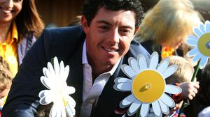 Rory McIlroy at the launch of Daisy Lodge, Cancer Fund for Children's therapeutic short break centre in Newcastle, Co Down