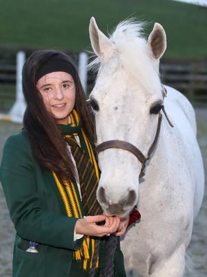 Ellie McDonnell with Fluffy