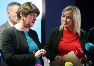 Arlene Foster and Michelle O'Neill offered their condolences to the patient's family