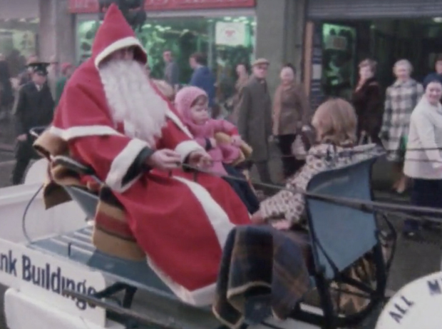 Scenes from Christmas in Belfast, with footage from 1977