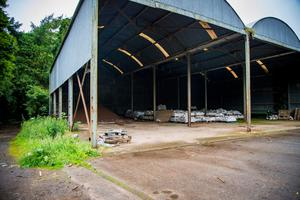 The empty council site from which thousands of pallets were stolen