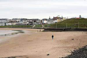 Portrush was quiet apart from a few walkers and surfers