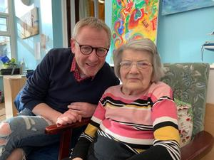 The late Elsie Frizzell with son-in-law Alan McBride