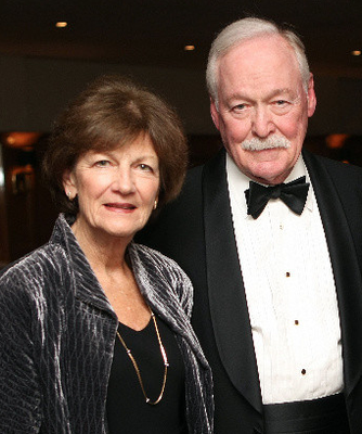 Marcia Lyons and guest speaker Jim Lyons