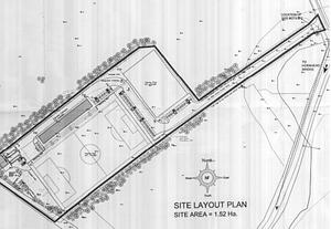 The site plan of the proposed development in Donegal