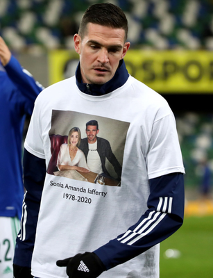 Shirt: Kyle's tribute to sister Sonia before game