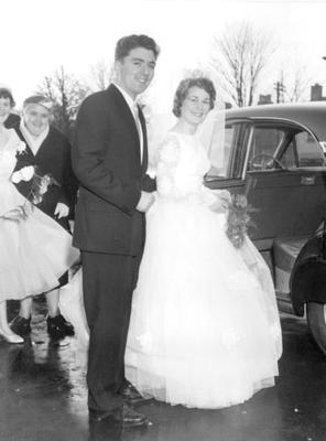 John Hume on his wedding day with wife Pat