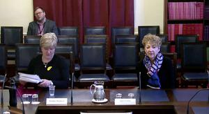 Pauline Shepherd and Agnes Lunny appear in front of Stormont's Health Committee.