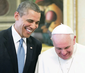 US President Barack Obama meets with Pope Francis at the Vatican