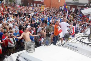 On the same day loyalists clashed with police in the north of the city