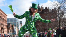 Axed: the usual St Patrick's Day celebrations are cancelled in Belfast this year