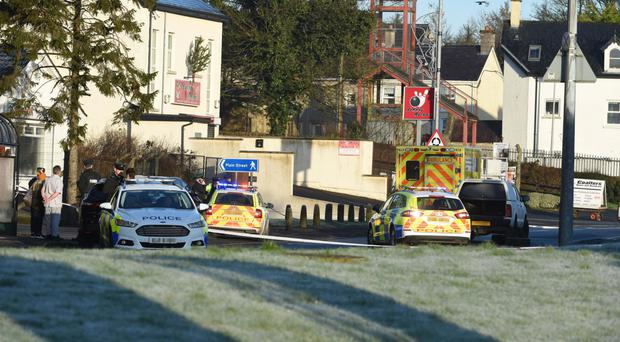 The scene of the accident at Brownhill Link Road in Irvinestown