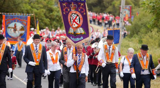 The Orange Order parade annually in Rossnowlagh, Co Donegal.