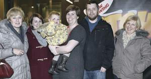Enjoying Belfast are the Stirling family from Cullybackey who attended the panto at the MAC