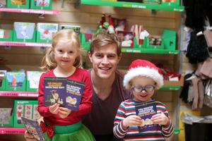 Andrew Trimble with Lucy and Micah Campbell