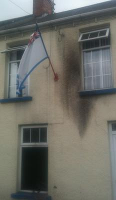 The house in Ballymena targeted yesterday