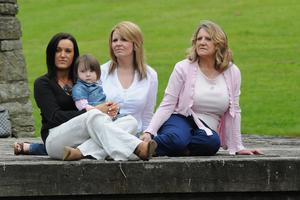 Claire Monteith and daughter Mya (2), sister Carol and mum Marion
