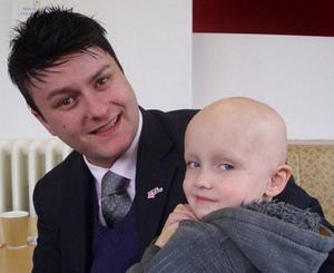 Anthony Miller with his nephew Aidan Duffy
