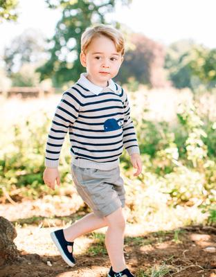 A photo of Prince George released for his third birthday