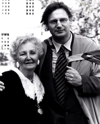 Liam Neeson with his mother Kitty, who has died after being ill for several months