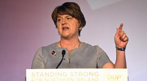 DUP leader Arlene Foster says her party is prepared to back a UUP candidate in Fermanagh South Tyrone (PA)