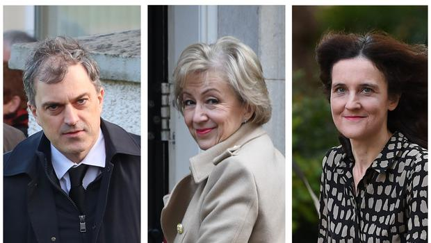 Julian Smith, Andrea Leadsom and Theresa Villiers (PA)