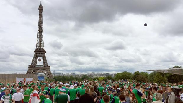 Thousands of supporters will arrive in Paris for Saturday evening's clash between Wales and Northern Ireland