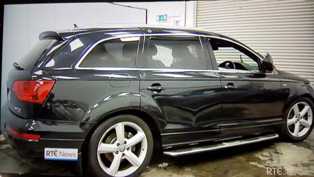 The family's Q7 which slid into Lough Swilly