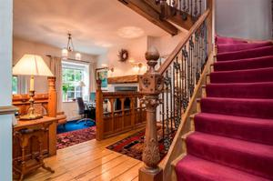 The modernised interior of The Old School House retains many of its Victorian charms