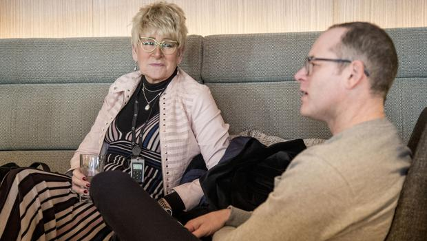 Frances and Tim Shiels are coming to terms with their new relationship