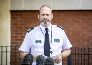 Assistant Chief Constable Mark McEwan speaks to the the media
