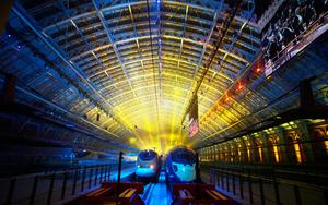 Vital link: Channel Tunnel trains preparing to depart for Europe from St Pancras station in London