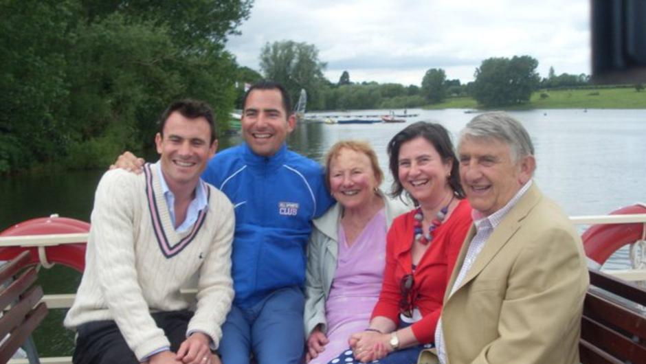 Family excursion: Derek, Winifred and their children, Matthew, Christopher and Evelyn on a day out together