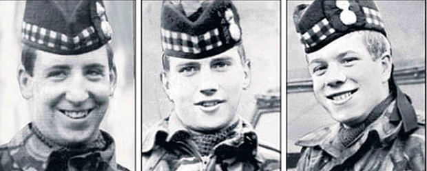 Dougald McCaughey, Joseph McCaig and his brother John from the Royal Highland Fusiliers were killed by the IRA while off-duty